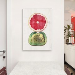 메탈 과일 주방 인테리어 여름 그림 액자 자몽 키위