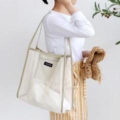 코니테일 데일리 메쉬백 - 그레이 (비치백 가방)