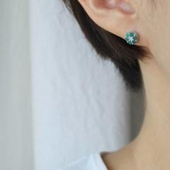 에메랄드 블룸 귀걸이(5월탄생석)
