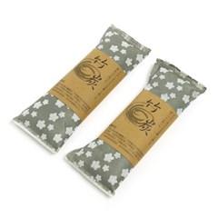 내추럴 대나무 숯 주머니 2p/천연 냄새제거 제습