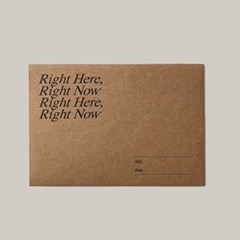 right here 봉투