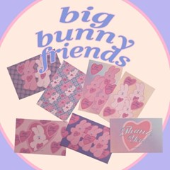 [뮤즈무드] postcard ver.18 big bunny friends
