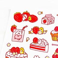 딸기와 딸기쨈 스티커