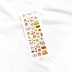 리치 쮸 금박 씰 스티커