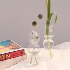 물방울 유리 화병 꽃병