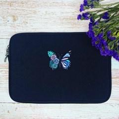 안나슬리 꽃나비 노트북,아이패드 파우치