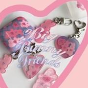 [뮤즈무드] big bunny friends key ring (키링)