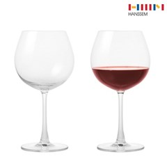 한샘 모던 버건디 와인잔 2P세트