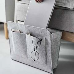 공간활용 사이드 수납포켓(그레이)/틈새고정 침대포켓
