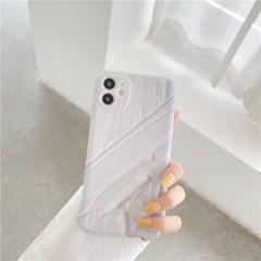 화이트 크림 아이폰 매트 풀커버 실리콘 카메라보호 케이스