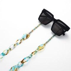 아세테이트 체인 라지 지오 _ Tropical Blue 안경줄 마스크 목걸이