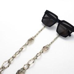 아세테이트 체인 라지 지오 _ Jade 안경줄 마스크 목걸이 겸용