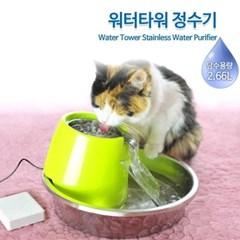 애완동물 강아지 고양이 타워 정수기 애완 급수기