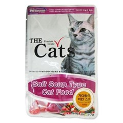 고양이간식 시리즈 더캣츠 가다랑어 치킨 스프 50g