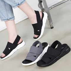 kami et muse Elastic wide band tall up sandals_KM20s306