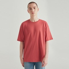 MULTI OVERSIZED HALF TEE_BRICK