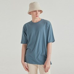 MULTI OVERSIZED HALF TEE_SKY BLUE