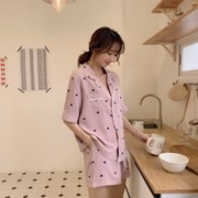 레이스 하트 파자마 잠옷