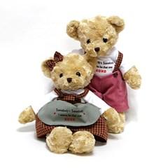체크테디베어 브라운 - 여자곰