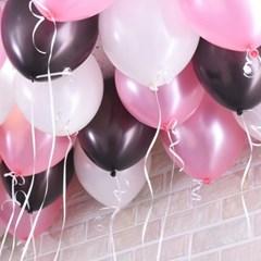 천장장식 펄풍선(헬륨효과)세트-발렌타인