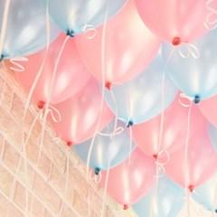 천장장식 펄풍선(헬륨효과)세트-핑크&블루