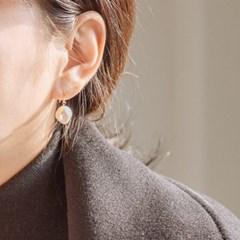 14k gf simple drop pearl earrings (14K 골드필드)