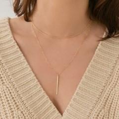 14k gf rope chain choker necklace (14K 골드필드)