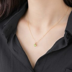 14k gf peridot necklace (14K 골드필드)