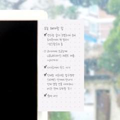 리훈 메모생활 프리노트 점착메모지 모눈 라인 무지 도트