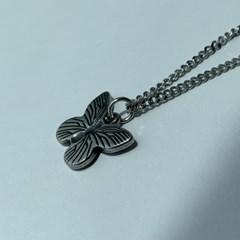 체인 나비 목걸이 써지컬 레이어드 thin butterfly_(1200005)
