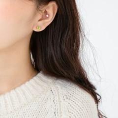 14k gf peridot earrings (14K 골드필드)