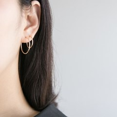 14k gf simple ring earrings (4size) (14K 골드필드)