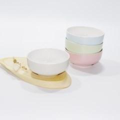 한국도자기 칼라웨어 대접 1p 4color 13cm 국그릇