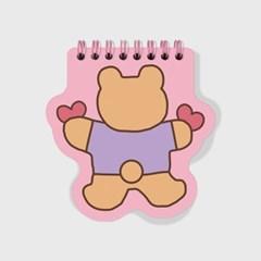 Bear heart-pink(스프링노트)(S)_(1635829)