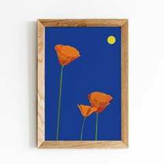 Fromsky A5 미니 포스터 (California Poppy)
