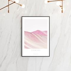비니쿤카 핑크마운틴 A3 아트포스터