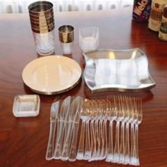 쓱싹접시 플라스틱일회용접시 집들이세트 54P