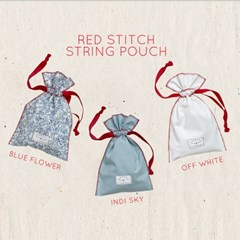 red stitch string pouch 스트링 파우치
