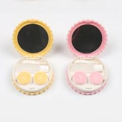 크래커582 귀여운 콘택트렌즈 케이스 풀세트 렌즈통
