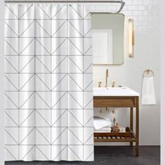 하우스 패브릭 샤워커튼(150x180cm) / 욕실커튼