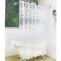 홈스토리 꽃무늬 샤워커튼(180x200cm)/PEVA 욕실커튼