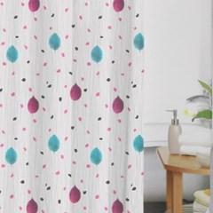 홈트리 빗방울 샤워커튼(180x180cm) / 화장실커튼