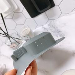 벽면흡착식 실리콘 칫솔꽂이 면도기 거치대