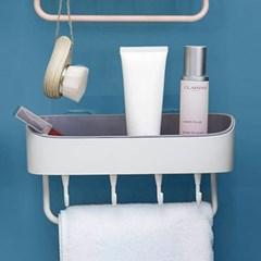 멀티수납 부착식 욕실선반(화이트) / 화장실선반