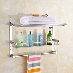 홈드림 스텐 수건걸이 욕실선반(60x40cm)