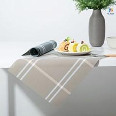 체크 PVC 플레이스매트 식탁매트