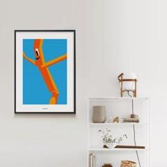 바람인형 M 유니크 인테리어 디자인 포스터 식당