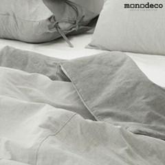 [모노데코] 멜란지 솔리드 순면 이불커버세트 (2color) S/Q