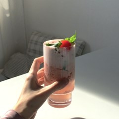 쉘 유리컵 shell glass cup