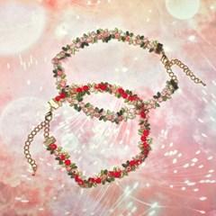 화연 꽃무늬 초커목걸이
